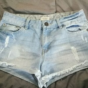 Forever 21 highwaisted jean shorts
